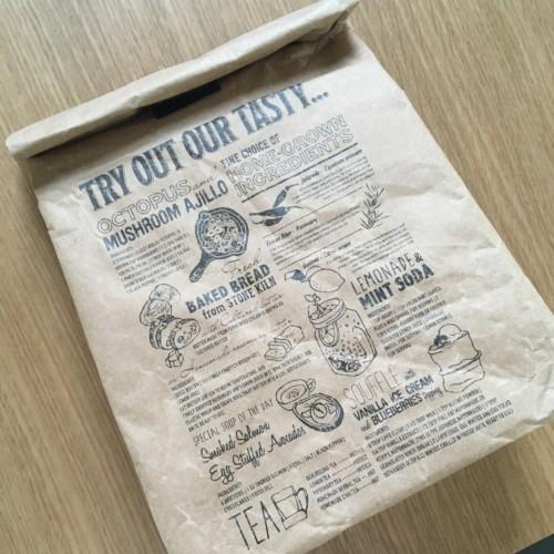 紙袋風ランチバッグの画像