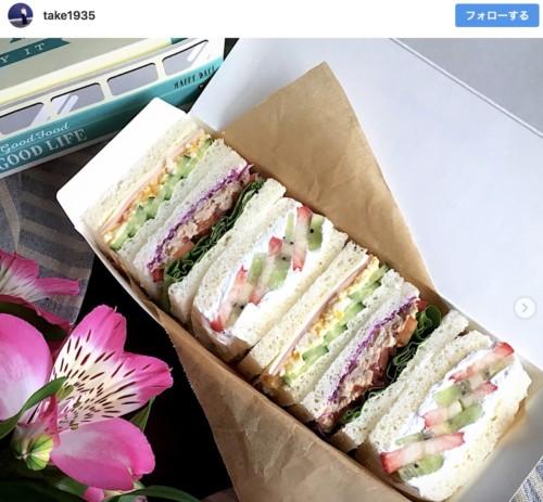 サンドイッチ弁当の画像