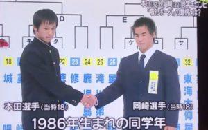 本田圭佑と岡崎慎司の画像