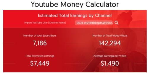youtube広告収入計算の画像